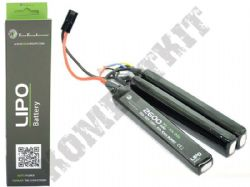 WE Airsoft 11.1V Lipo 26000mAH 20c 3 Way Nun-Chuck Battery Pack Small Tamiya